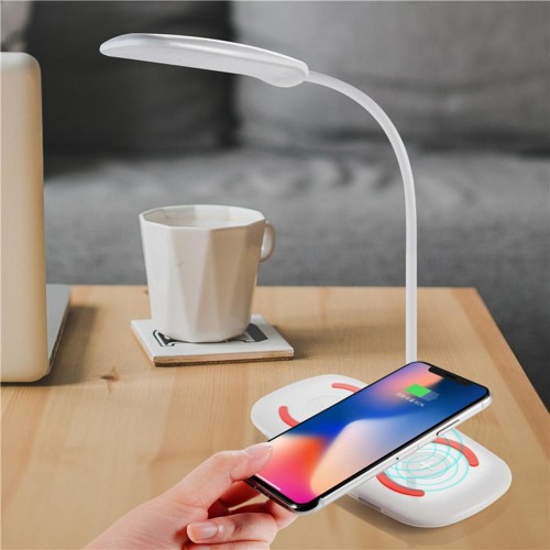 Fashion Touch LED Table Night Lamp With Mobile Phone Wireless Charging Function Wireless Charger For Samsung