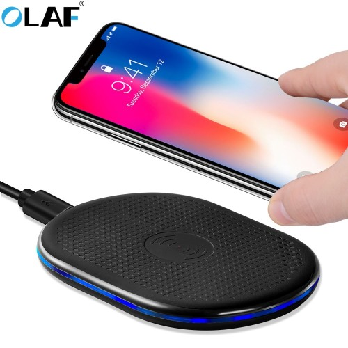 OALF Qi Wireless Charger Charging Induction Charger for iPhone X 8 Plus for Samsung Galaxy S8