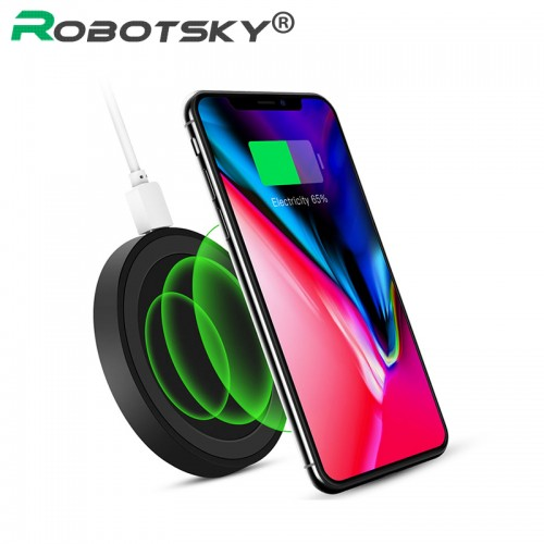 Robotsky Wireless Charger for iPhone X 8 7 6s Plus Fast Wireless Charging Pad