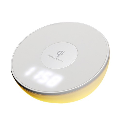 Wireless Charging Device with Time Display Alarm Clock Wireless Charger For iPhone X 8 Plus