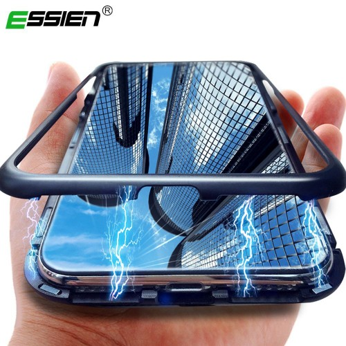 Essien Magnetic Adsorption Metal Case for Honor 10 Magnet Magnetic phone Case for Huawei P20 Lite