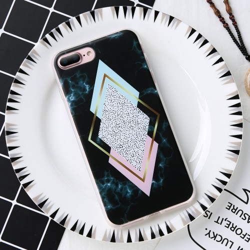 KISSCASE Case For Huawei Honor 9 Lite Geometric Triangle Marble Case For Huawei P20 Lite Pro