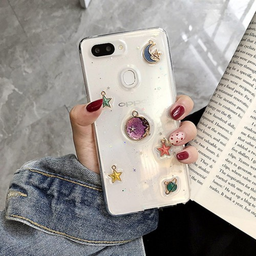 Axbety For OPPO 3D Space Planet Glitter Case For OPPO