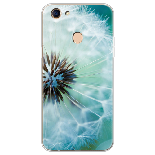 Flowers luxury Silicone Clear Back Phone Cases For OPPO