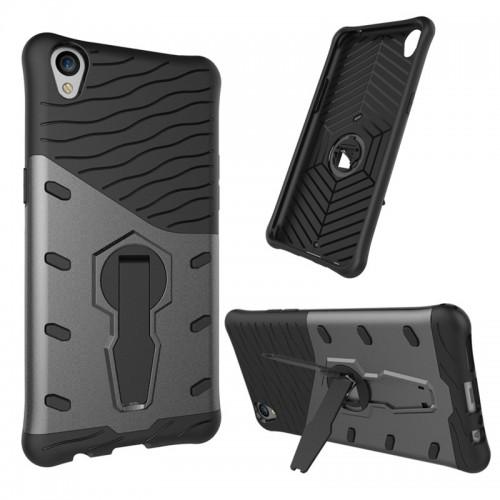 Luxury Armor Hybrid PC TPU Kickstand Hard Fundas Phone Cases For OPPO