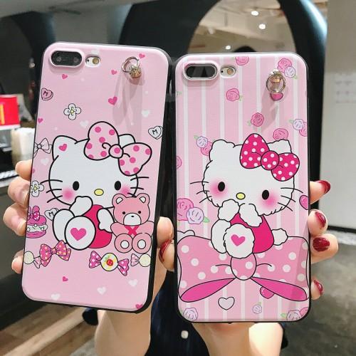 SYCASE kitty cat Soft rubber feel emboss Phone Case For OPPO
