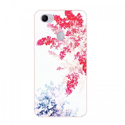 Silicon Colorful flowers Painting Soft TPU Back Cover for OPPO