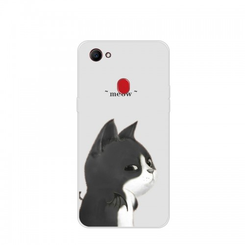 Silicone coque Cute cat fish dog landscape Clear Phone Case For OPPO