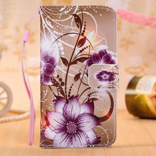 Flower Leather Wallet Flip Case Soft Cover For Samsung Phones