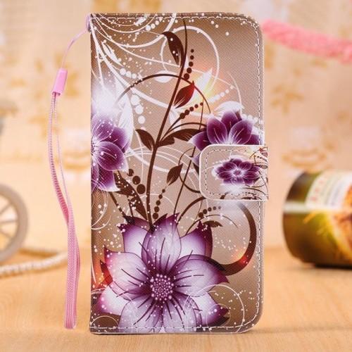 Flower Leather Wallet Flip Case Soft Cover For Samsung Phones
