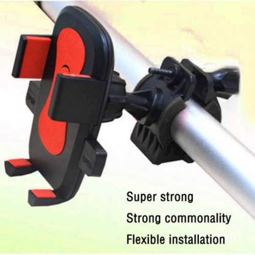 New Universal Bike Scooty Phone Holder Support 360 Degree Rotating Bicycle Holder For All Size Phones