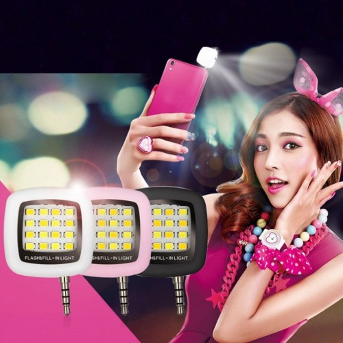 2017 NEW Portable Rechargeable 16 Selfie Flash LED Camera Lamp Light For iPhone 6 6s Samsung