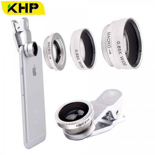 KHP 3 In 1 Universal Phone Lens Clip camera Mobile Phone Lenses For iphone 4 4S