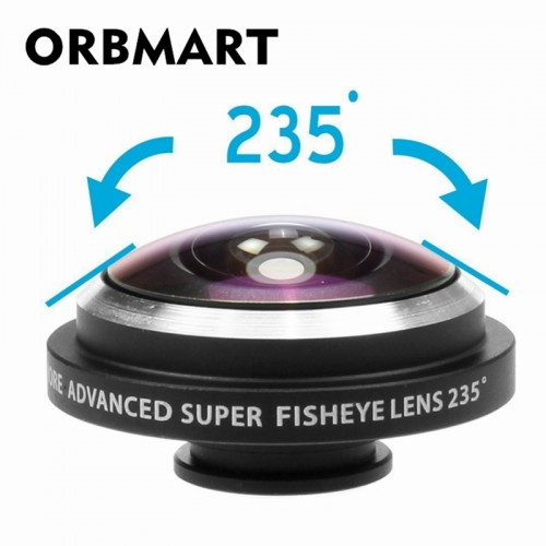 ORBMART Universal Clip 235 Degree Super Fish Eye Camera Fisheye For Apple iPhone 6 Plus 5S