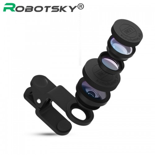 Universal 3 in 1 Mobile Phone Lenses For iPhone 7 6s plus xiaomi huawei samsung Fish