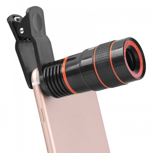 Universal 8X Zoom HD Optical Telescope Lens Digital Zoom With Clip for Samsung for HTC Mobile