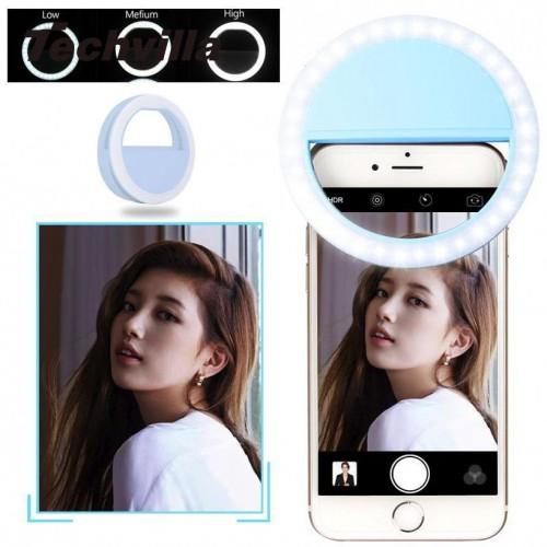 techvilla RK12 Universal Selfie Ring Flash LED Ring Fill Light Selflife Lamp Camera Photography Flashes for
