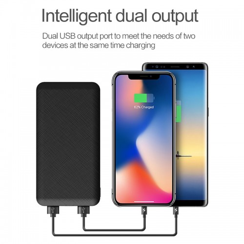 ROCK Slim 10000 mAh Power Bank Portable Ultra thin Polymer LED Powerbank external battery poverbank 10000mah