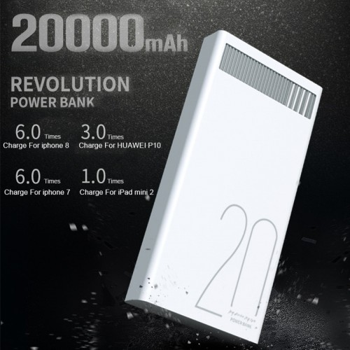 Remax 2 4A 20000mAh Quick Charge Power Bank Polymer Battery Dual USB Charging