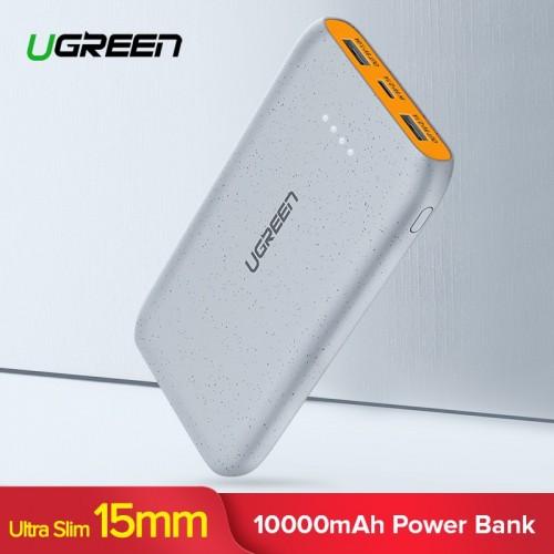 Ugreen 10000mAh Power Bank Dual USB Powerbank Slim Poverbank Portable External Battery Pack Charger