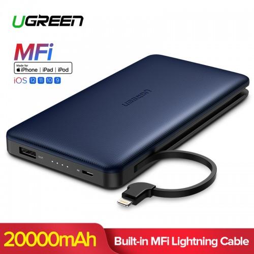 Ugreen 20000mAh Power Bank For iPhon Xs Max Xiaomi For Lightning Powerbank Portable External Battery Charger