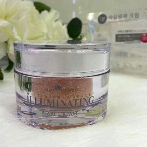 MAY ISLAND  Whitening Capsule Illuminating Pearl Cream 50g