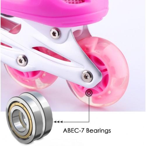 Adjustable Size Children Roller Wheels Skating Shoes