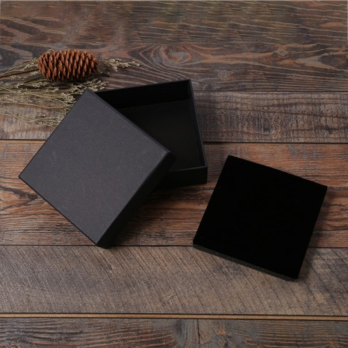 12 Pcs Lot Black Kraft Paper Jewelry Box Bracelet Bangles Necklaces Rings Box Christmas