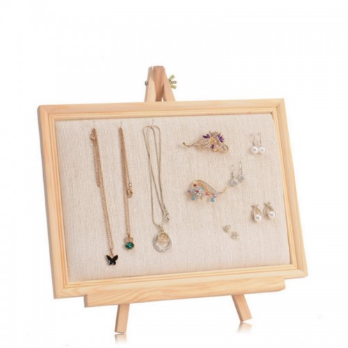 1pcs Solid Wood Velvet Earrings Pendant Display Holder Jewelry Display Frame Jewellery Display Rack