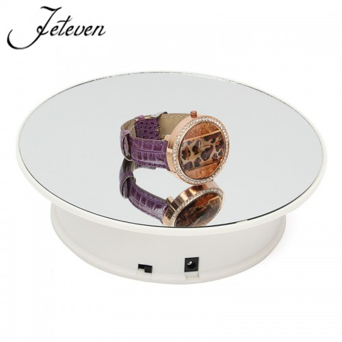 360 Degree Electric Rotating Turntable Display Stand Max Load 9 7g 20cm Rotary Ear Rings Bracelets