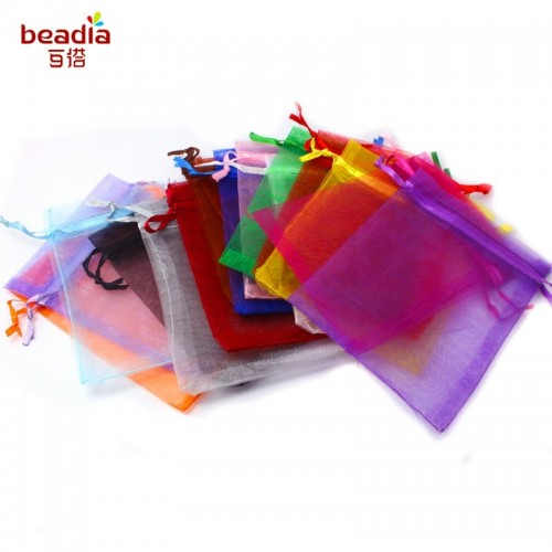 50pcs bag Pick 16 Colors Jewelry Packaging Drawable Organza Bags Bags.jfif