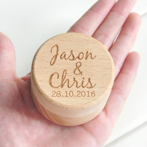 Personalized Rustic Wedding Wood Ring Box Holder Custom Your Names and Date Wedding Ring Bearer Box.jfif