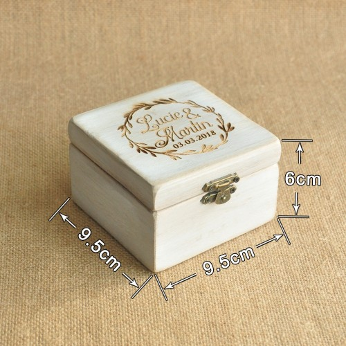 Personalized Wood Wedding Ring Box Personalized Wedding Valentines Engagement box