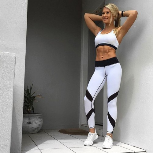 Women Sportwear Fitness High Waist Yoga Workout Leggings Trouser Pants