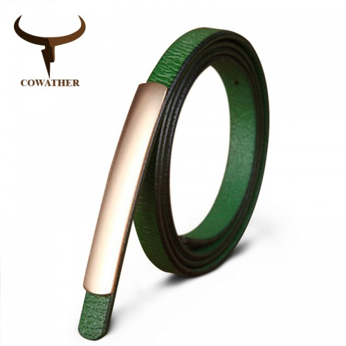 COWATHER Exquisite fashion style women belts cow genuine leather high grade quality alloy buckle new desgin