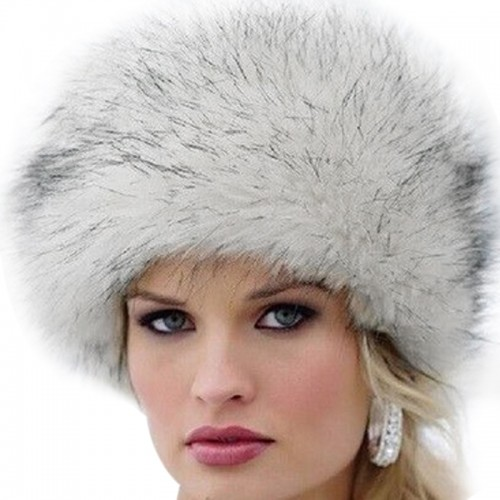 New Fashion Winter Women Faux Fur Cap Fluffy Fox Fur Hats Headgear Russian Outwear Girls