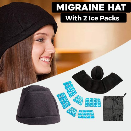 Migraine Hat Wearable Ice Hat To Reduce Migraine Headache Pain
