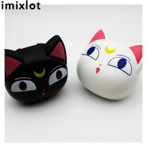 Imixlot New Arrival Cute Cat Contact Lens Case With Mirror Contact Lenses Box for Man and