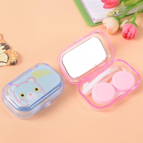 KESMALL Hot 1Pc Cute Mini Cartoon Plastic Contact Lens Box High Quality Contact Lens