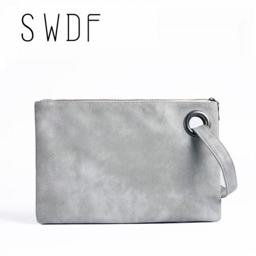 Solid wholesale Women s Clutch Bag Leather Women Envelope Bag Clutch Evening Bag Female Clutches