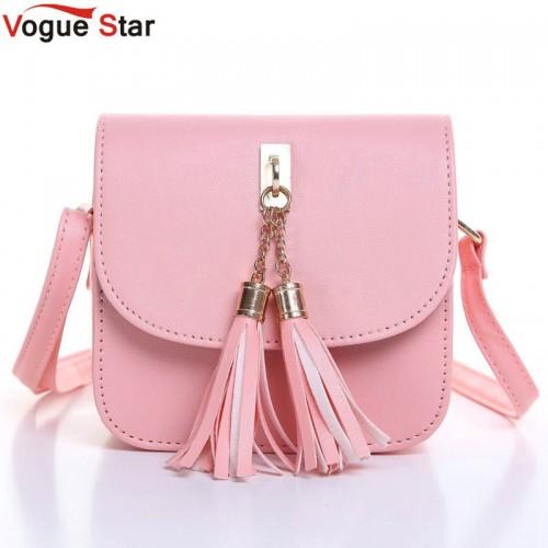 Vogue Star Fashion Small Chains Bag Women Candy Color Tassel Messenger Bags Female Handbag Shoulder