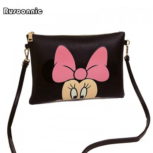 Women Bags Minnie Mickey Bag Leather Handbags Clutch Bag Bolsa Feminina mochila Bolsas