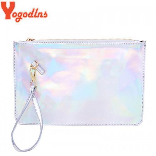 Yogodlns Laser women bags Designer clutch bag Fashion women messenger bags ladies Envelope Clutches