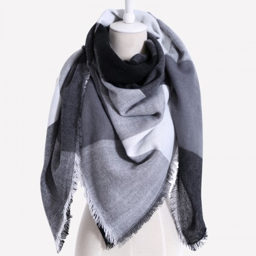 Drop shipping Winter Scarf Women Plaid Cashmere Triangle Women Scarf Warm wrap Shawls and Scarves