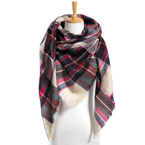 Top quality Winter Scarf Plaid Scarf Designer Unisex Acrylic Basic Shawls Women s Scarves hot sale