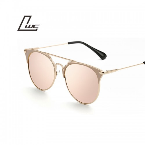 Retro Round Cat Eye Sunglasses Men Women Designer Eyewear Metal Frame UV400 Sun Glasses Female Oculos