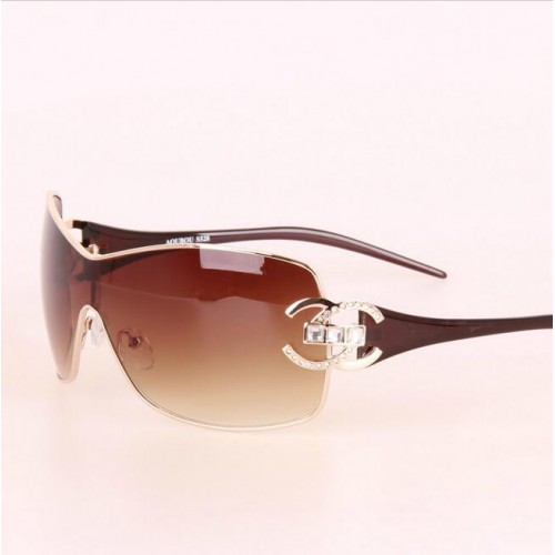 Sunglasses Women Brand Designer Diamond Big Frame Sun Glasses For Womens Gold Retro