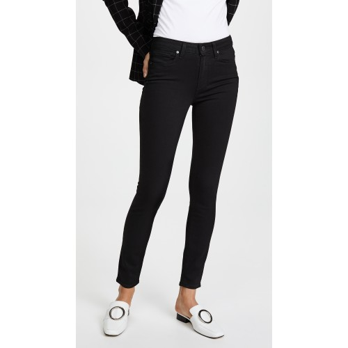 Black Female Stretchable Cotton Jeans Pencil Pants Denim Trousers