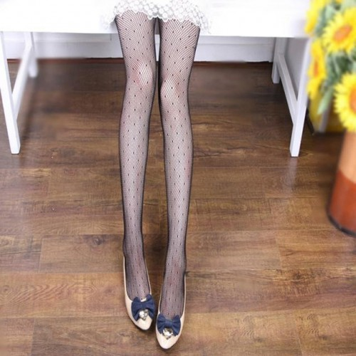 Black Women Fishnet Net Pattern Stockings (11)