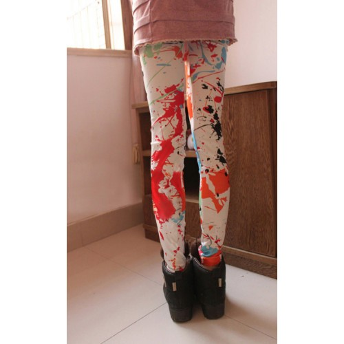Women's Vintage Fashion Graffiti Ink Printing 3b